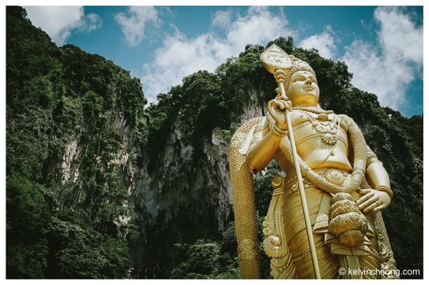 The huge statue of Lord Murugan greets you at Batu Caves.