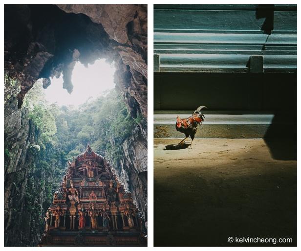 The shrine inside the mountain.